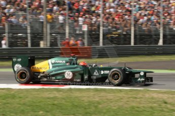© 2012 Octane Photographic Ltd. Italian GP Monza - Friday 7th September 2012 - F1 Practice 2. Caterham CT01 - Heikki Kovalainen. Digital Ref :