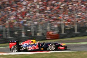 © 2012 Octane Photographic Ltd. Italian GP Monza - Friday 7th September 2012 - F1 Practice 2. Red Bull RB8 - Mark Webber. Digital Ref :