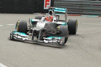 © Octane Photographic Ltd. 2012. F1 Monte Carlo - Practice 2. Thursday 24th May 2012. Michael Schumacher - Mercedes. Digital Ref : 0352cb1d5801