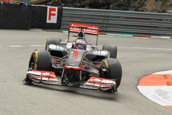 © Octane Photographic Ltd. 2012. F1 Monte Carlo - Practice 2. Thursday 24th May 2012. Jenson Button - McLaren. Digital Ref : 0352cb1d5830