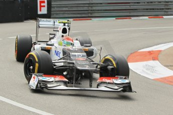 © Octane Photographic Ltd. 2012. F1 Monte Carlo - Practice 2. Thursday 24th May 2012. Sergio Perez - Sauber. Digital Ref : 0352cb1d5836