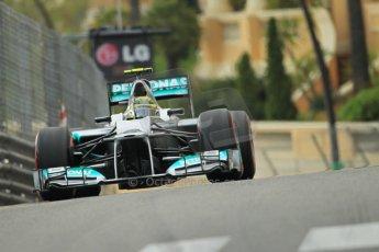 © Octane Photographic Ltd. 2012. F1 Monte Carlo - Practice 2. Thursday 24th May 2012. Nico Rosberg - Mercedes. Digital Ref : 0352cb1d5973