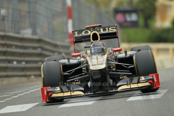© Octane Photographic Ltd. 2012. F1 Monte Carlo - Practice 2. Thursday 24th May 2012. Kimi Raikkonen - Lotus. Digital Ref : 0352cb1d5976