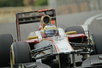 © Octane Photographic Ltd. 2012. F1 Monte Carlo - Practice 2. Thursday 24th May 2012. Pedro de la Rosa - HRT. Digital Ref : 0352cb1d6010