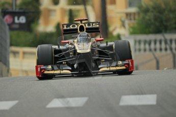 © Octane Photographic Ltd. 2012. F1 Monte Carlo - Practice 2. Thursday 24th May 2012. Kimi Raikkonen - Lotus. Digital Ref : 0352cb1d6035