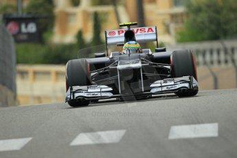 © Octane Photographic Ltd. 2012. F1 Monte Carlo - Practice 2. Thursday 24th May 2012. Bruno Senna - Williams. Digital Ref : 0352cb1d6043