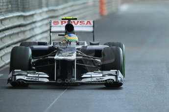 © Octane Photographic Ltd. 2012. F1 Monte Carlo - Practice 2. Thursday 24th May 2012. Bruno Senna - Williams. Digital Ref : 0352cb1d6096