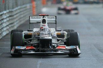 © Octane Photographic Ltd. 2012. F1 Monte Carlo - Practice 2. Thursday 24th May 2012. Kamui Kobayashi - Sauber. Digital Ref : 0352cb1d6122