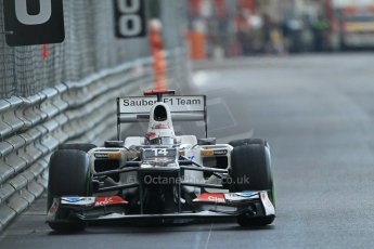 © Octane Photographic Ltd. 2012. F1 Monte Carlo - Practice 2. Thursday 24th May 2012. Kamui Kobayashi - Sauber. Digital Ref : 0352cb1d6166