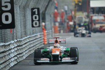 © Octane Photographic Ltd. 2012. F1 Monte Carlo - Practice 2. Thursday 24th May 2012. Paul di Resta - Force India. Digital Ref : 0352cb1d6188