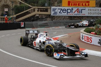 © Octane Photographic Ltd. 2012. F1 Monte Carlo - Practice 2. Thursday 24th May 2012. Kamui Kobayashi - Sauber. Digital Ref : 0352cb7d7991