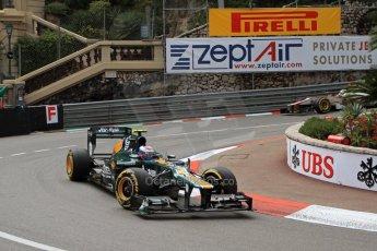© Octane Photographic Ltd. 2012. F1 Monte Carlo - Practice 2. Thursday 24th May 2012. Vitaly Petrov - Caterham. Digital Ref : 0352cb7d8005