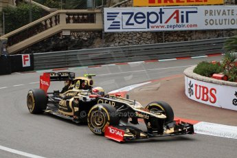 © Octane Photographic Ltd. 2012. F1 Monte Carlo - Practice 2. Thursday 24th May 2012. Romain Grosjean - Lotus. Digital Ref : 0352cb7d8014