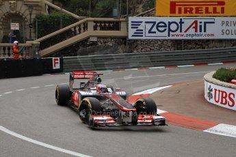 © Octane Photographic Ltd. 2012. F1 Monte Carlo - Practice 2. Thursday 24th May 2012. Jenson Button - McLaren. Digital Ref : 0352cb7d8028