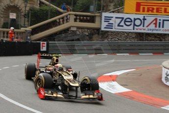 © Octane Photographic Ltd. 2012. F1 Monte Carlo - Practice 2. Thursday 24th May 2012. Romain Grosjean - Lotus. Digital Ref : 0352cb7d8128