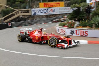 © Octane Photographic Ltd. 2012. F1 Monte Carlo - Practice 2. Thursday 24th May 2012. Fernando Alonso - Ferrari. Digital Ref : 0352cb7d8162