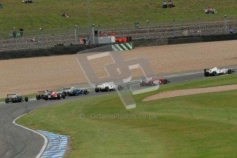 © Octane Photographic Ltd. 2012. Donington Park. Sunday 19th August 2012. Formula Renault BARC Race 2. The battle for 6th, James Fletcher and Kieran Vernon. Digital Ref : 0463lw1d3371