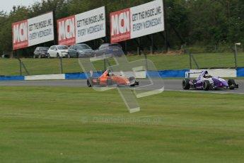 © Octane Photographic Ltd. 2012. Donington Park. Sunday 19th August 2012. Formula Renault BARC Race 2. Josh Webster - MGR Motorsport and Seb Morris - Fortec Motorsports. Digital Ref : 0463lw1d3403
