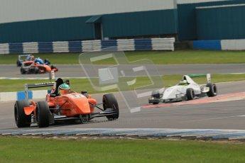 © Octane Photographic Ltd. 2012. Donington Park. Sunday 19th August 2012. Formula Renault BARC Race 2. Seb Morris - Fortec Motorsports and James Fletcher - MGR Motrosport. Digital Ref : 0463lw1d3497
