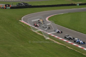 © Octane Photographic Ltd. 2012. FIA Formula 2 - Brands Hatch - Sunday 15th July 2012 - Race 2 - The pack heads around Graham Hill bend. Digital Ref : 0408lw7d9418