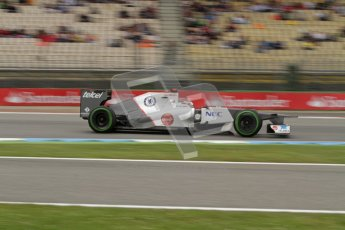 © 2012 Octane Photographic Ltd. German GP Hockenheim - Friday 20th July 2012 - F1 Practice 1. Sauber C31 - Kamui Kobayashi. Digital Ref : 0410lw7d0916