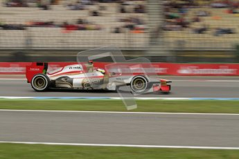 © 2012 Octane Photographic Ltd. German GP Hockenheim - Friday 20th July 2012 - F1 Practice 1. HRT F112 - Pedro de La Rosa. Digital Ref : 0410lw7d1020