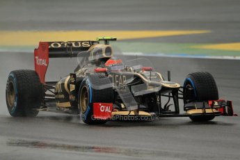 © 2012 Octane Photographic Ltd. German GP Hockenheim - Friday 20th July 2012 - F1 Practice 2. Lotus E20 - Romain Grosjean. Digital Ref : 0411lw7d5347