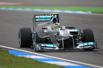 © 2012 Octane Photographic Ltd. German GP Hockenheim - Saturday 21st July 2012 - F1 Qualifying session 1. Mercedes W03 - Nico Rosberg. Digital Ref : 0417lw1d3233