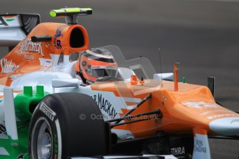 © 2012 Octane Photographic Ltd. German GP Hockenheim - Saturday 21st July 2012 - F1 Qualifying session 1. Force India VJM05 - Nico Hulkenberg. Digital Ref : 0417lw1d3267
