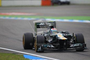 © 2012 Octane Photographic Ltd. German GP Hockenheim - Saturday 21st July 2012 - F1 Qualifying session 1. Caterham CT01 - Vitaly Petrov. Digital Ref : 0417lw1d3382