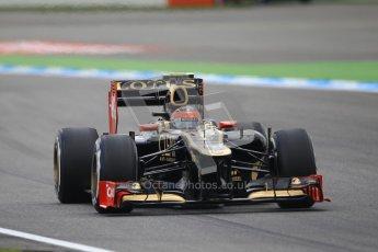© 2012 Octane Photographic Ltd. German GP Hockenheim - Saturday 21st July 2012 - F1 Qualifying session 1. Lotus E20 - Romain Grosjean. Digital Ref : 0417lw1d3411