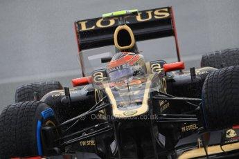 © 2012 Octane Photographic Ltd. German GP Hockenheim - Saturday 21st July 2012 - F1 Qualifying. Lotus E20 - Romain Grosjean. Digital Ref : 0417lw1d3756