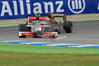 © 2012 Octane Photographic Ltd. German GP Hockenheim - Saturday 21st July 2012 - GP2 Race 1 - Rapax - Daniel de Jong and Lotus GP of James Calado. Digital Ref : 0419lw1d4065