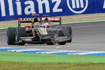 © 2012 Octane Photographic Ltd. German GP Hockenheim - Saturday 21st July 2012 - GP2 Race 1 - Lotus GP - James Calado under pressure from the iSport entry of Marcus Ericsson. Digital Ref : 0419lw1d4071