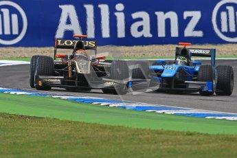 © 2012 Octane Photographic Ltd. German GP Hockenheim - Saturday 21st July 2012 - GP2 Race 1 - Lotus GP - James Calado and Ocean Racing Technology - Victor Guerin. Digital Ref : 0419lw1d4305