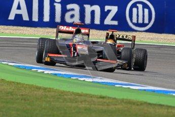 2012 Octane Photographic Ltd. German GP Hockenheim - Saturday 21st July 2012 - GP2 Race 1 - iSport International - Marcus Ericsson fighting with the Lotus GP of James Calado. Digital Ref : 0419lw1d4399
