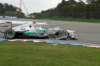 © 2012 Octane Photographic Ltd. German GP Hockenheim - Saturday 21st July 2012 - F1 Practice 3. Mercedes W03 - Nico Rosberg. Digital Ref : 0416lw7d7390