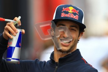 © 2012 Octane Photographic Ltd. German GP Hockenheim - Sunday 22nd July 2012 - F1 Raceday paddock. Toro Rosso STR7 - Daniel Ricciardo. Digital Ref : 0422lw1d4829