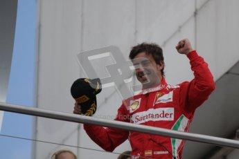 © 2012 Octane Photographic Ltd. German GP Hockenheim - Sunday 22nd July 2012 - F1 Podium - Fernando Alonso - Winner (Ferrari). Digital Ref : 0421lw7d9006