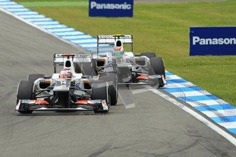© 2012 Octane Photographic Ltd. German GP Hockenheim - Sunday 22nd July 2012 - F1 Race. Saubers In Formation. Sauber C31s of Kamui Kobayashi and Sergio Perez. Digital Ref : 0423lw1d5137