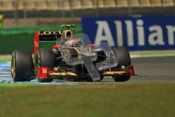 © 2012 Octane Photographic Ltd. German GP Hockenheim - Sunday 22nd July 2012 - F1 Race. Lotus E20 - Romain Grosjean. Digital Ref : 0423lw1d5574
