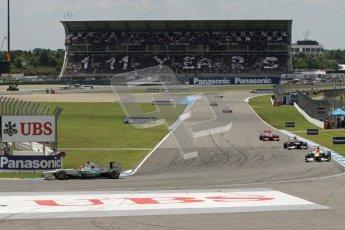 © 2012 Octane Photographic Ltd. German GP Hockenheim - Sunday 22nd July 2012 - F1 Race. 111 years of Mercedes history. Digital Ref : 0423lw7d8465