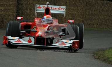 © 2012 Octane Photographic Ltd/ Carl Jones. Marc Gene, Ferrari F10, Goodwood Festival of Speed. Digital Ref: 0388CJ7D6542
