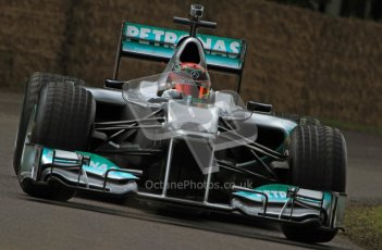© 2012 Octane Photographic Ltd/ Carl Jones. Brendon Hartley, Mercedes W02, Goodwood Festival of Speed. Digital Ref: 0388CJ7D6557