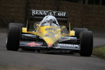 © 2012 Octane Photographic Ltd/ Carl Jones. Alain Prost, Goodwood Festival of Speed. Digital Ref: 0388CJ7D6562