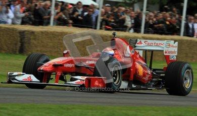 © 2012 Octane Photographic Ltd/ Carl Jones. Marc Gene, Ferrari F10, Goodwood Festival of Speed. Digital Ref:
