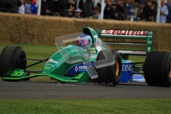© 2012 Octane Photographic Ltd/ Carl Jones.  Jordan 191, Goodwood Festival of Speed, Historic F1. Digital Ref: 0389cj7d7367