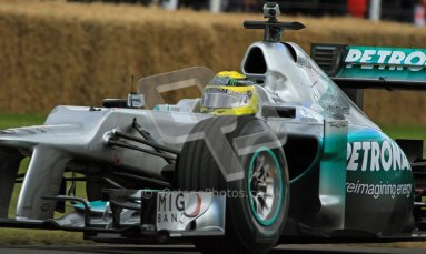© 2012 Octane Photographic Ltd/ Carl Jones. Nico Rosberg, Mercedes W02, Goodwood Festival of Speed. Digital Ref: