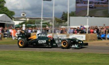 © 2012 Octane Photographic Ltd/ Carl Jones. Heikki Kovalainen, Caterham T127, Goodwood Festival of Speed. Digital Ref: