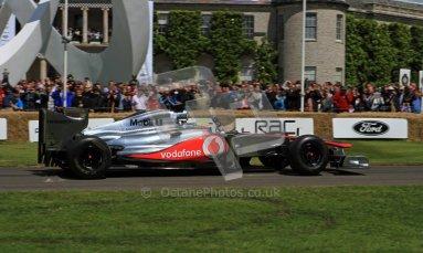 © 2012 Octane Photographic Ltd/ Carl Jones. Oliver Turvey, McLaren MP4-26, Goodwood Festival of Speed. Digital Ref: